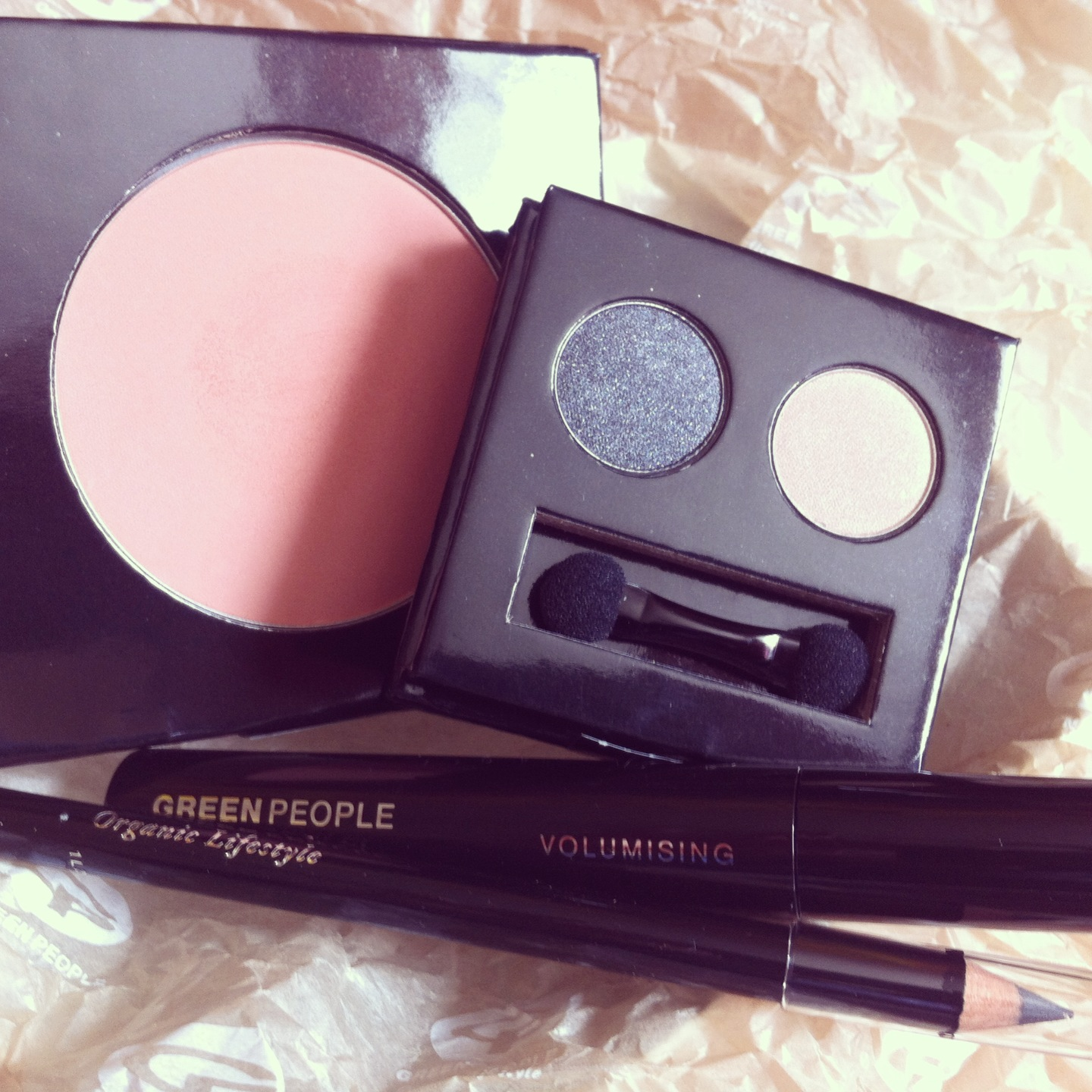 New additions to the kit – Green People make-up…