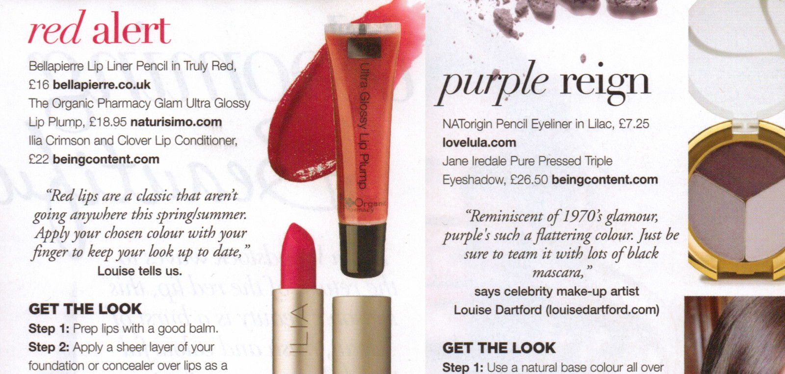 Spring/Summer trends for Natural Health magazine..