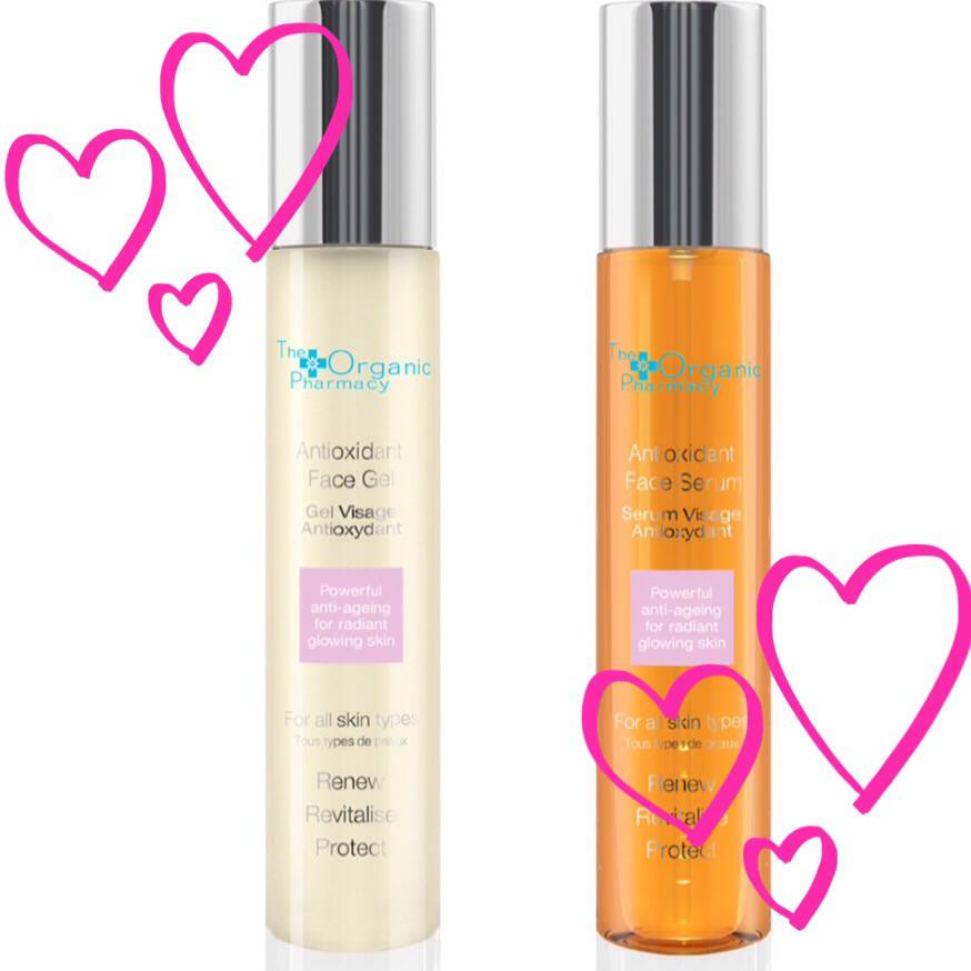 The Organic Pharmacy Antioxidant Face Gel and Serum..