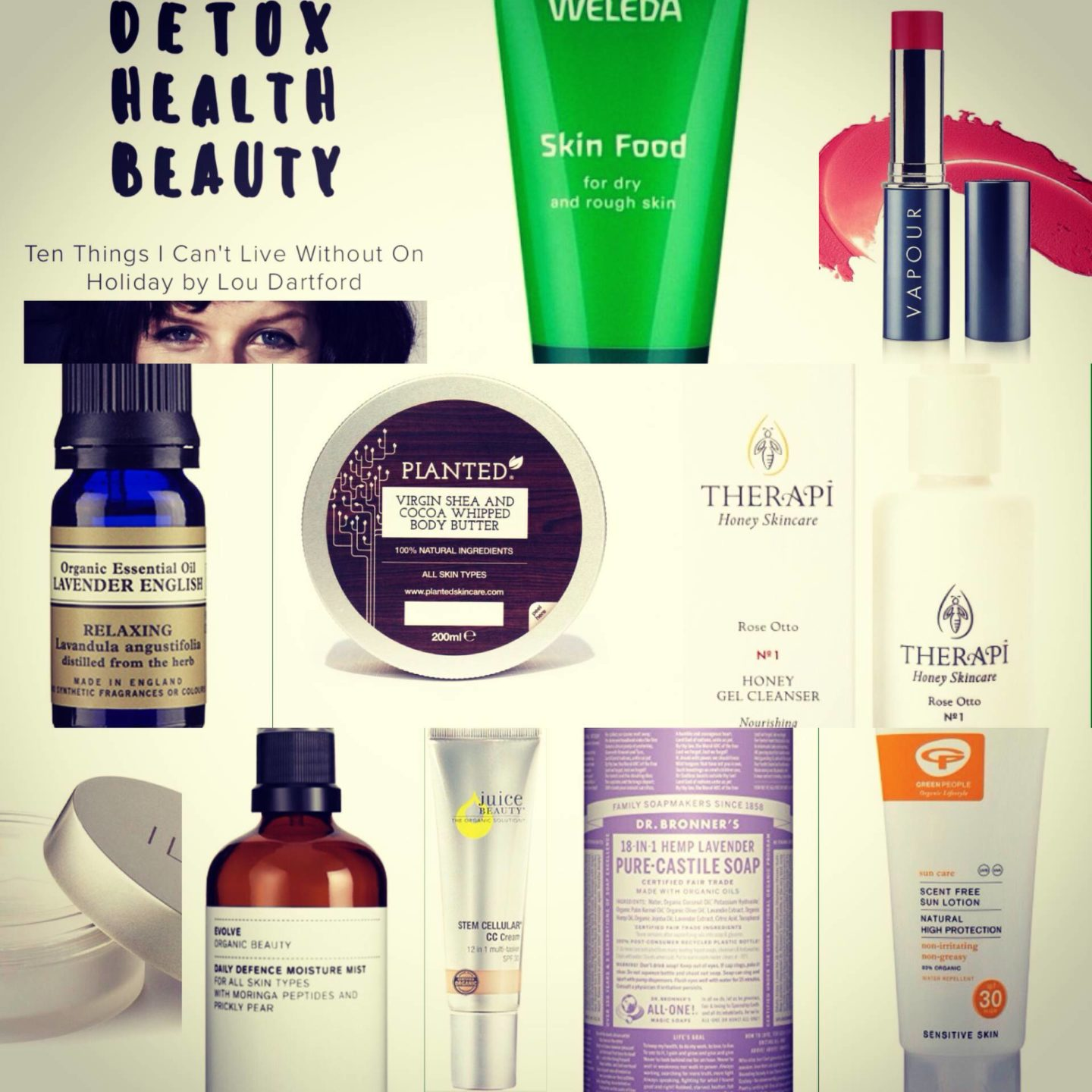 My holiday essentials for Detox Health Beauty..