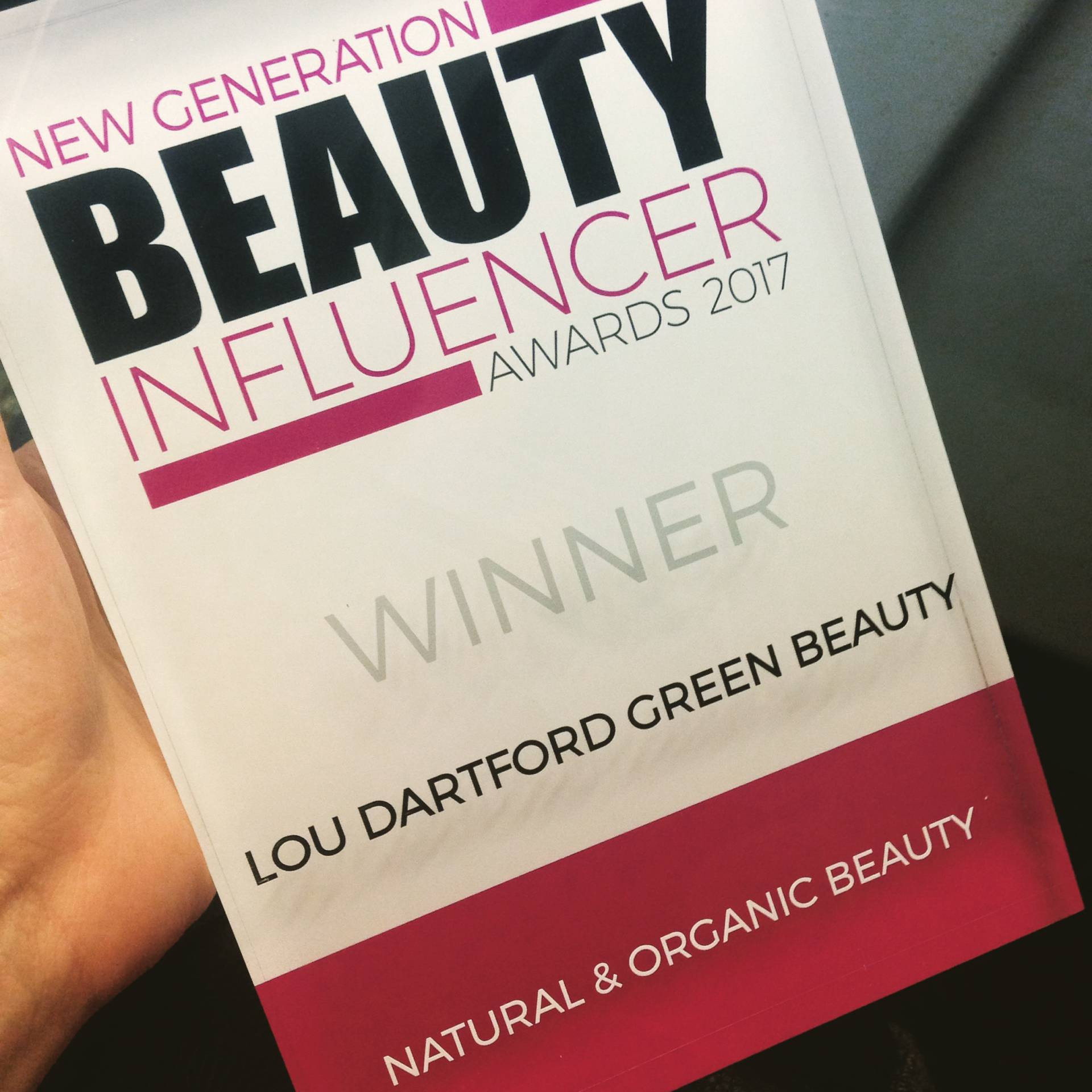 New Generation Beauty Influencer Award