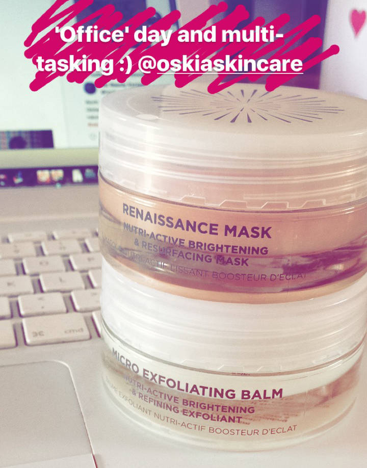 Oskia Micro Exfoliating Balm and Renaissance Mask…