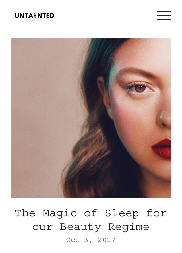 The Magic of Sleep – Untainted Magazine…